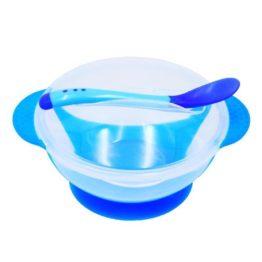 blå skål til baby